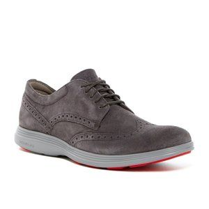 Cole Haan Mens Suede Grand Tour Wingtip OX Sneaker